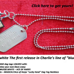 "Charlie Musselwhite's Ace of Harps ""Lucky Hand"" Dog Tag Necklace"